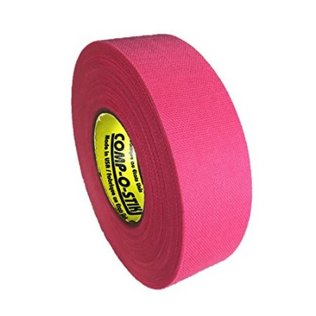 Pack of 6 Coloured Cloth Tape (24mm x 25m) - Pink