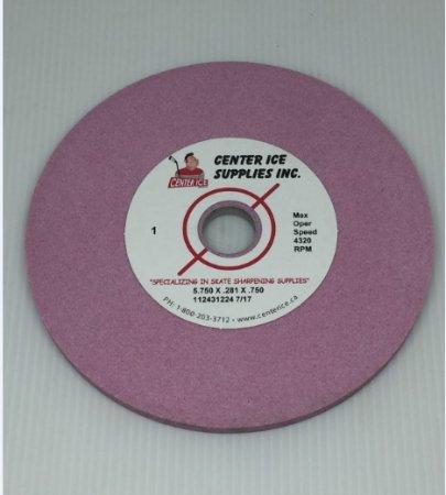 "Pink 80 Grit 6"" x 1/4"" x 3/4"" Fleming Gray B2/B3 Swinging Arm Grinding Wheel"