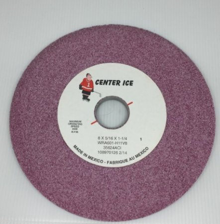 """Induced Perosity Ruby 60 Grit 8"""" x 5/16"""" x 1-1/4"""" Grinding Wheel"""