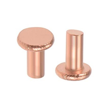 """Copper solid flat head with washers #10 1-1/4"""" (Package of 250)"""