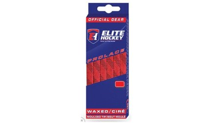 """ELITE RED / BLACK WAXED LACES 120"""""""