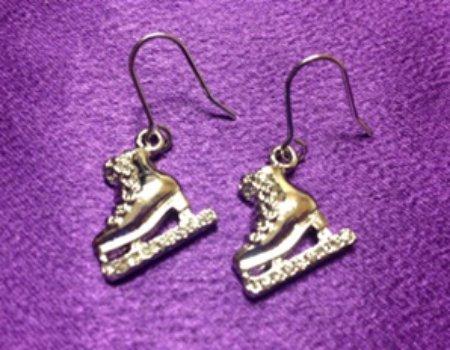 Skate Silver Earrings (Pair) - Dangle