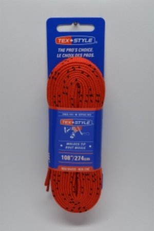 """Cotton laces with """"double"""" black stripe 108"""" in Red (Package of 12 pairs)"""