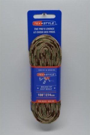 """Cotton laces with """"double"""" black stripe 108"""" in Sand Camo (Package of 12 pairs)"""