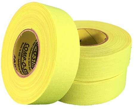 Pack of 6 Coloured Cloth Tape (24mm x 25m) - Yellow