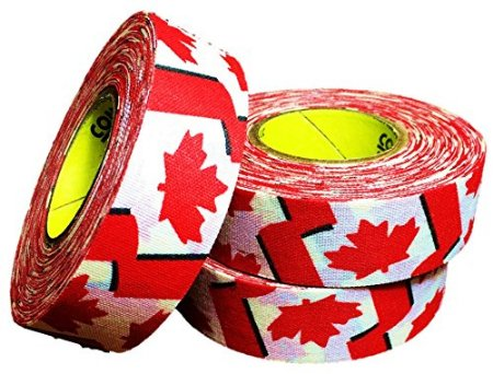 Pack of 6 Coloured Cloth Tape (24mm x 25m) - Canadian Flag
