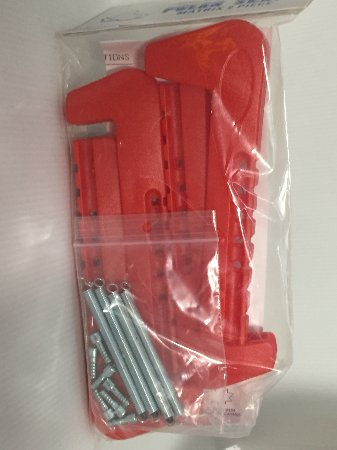 2pc adjustable plastic Skate guard - Red *NEW*