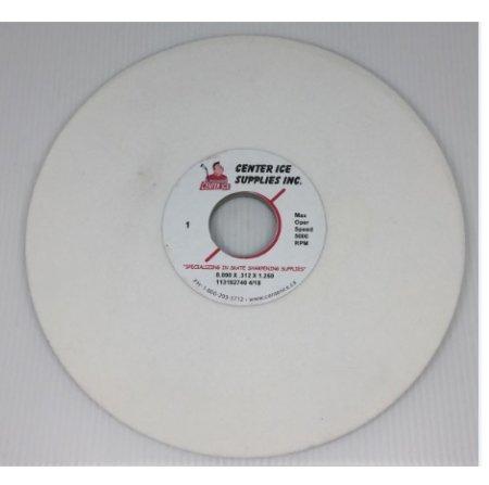 """White Ceramic 80 Grit 8"""" x 5/16"""" x 1-1/4"""" Grinding Wheel"""