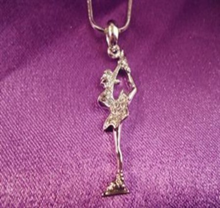 Skater Silver Pendant (Bielman Spin) with Chain