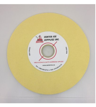 "Yellow 80 Grit 8"" x 5/16"" x 1-1/4"" Grinding Wheel"