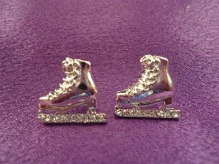 Skate Silver Earrings (Pair) - Post