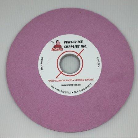 "Pink 80 Grit 8"" x 5/16"" x 1-1/4"" Grinding Wheel"
